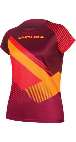 Endura SingleTrack Print II LTD Short Sleeve Jersey Women mulberry